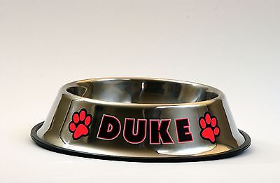 Personalized Stainless Steel Dog Cat Pet Food Bowl