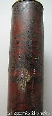 Antique HAAKER'S PERFECTION FIRE EXTINGUISHER dry powder long tube New York City