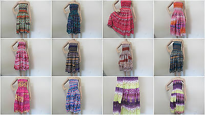 Beautiful Wholesale Lot of 12 Brand New Tube  Dresses,Cover Up US Free Shipping