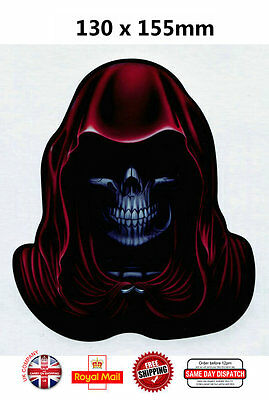 RED HOODIE Skull Car Motorcycle Scooter Decal Stickers O015