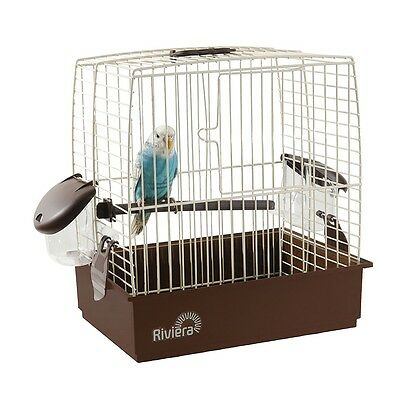 Riviera Nice Small Bird Budgie Canary Travel Transport Holiday Carry Cage