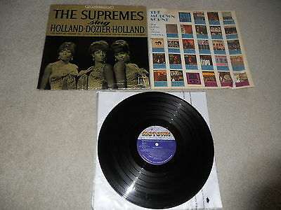 The Supremes Sing Holland Dozier 1966 1st Stereo 1A Press, STEAM CLEANED, Rare!