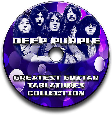 104x DEEP PURPLE ROCK GUITAR TABS TABLATURE SONG BOOK ANTHOLOGY SOFTWARE CD