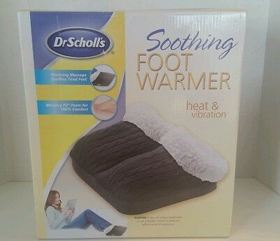 Dr. Scholls Soothing Foot Warmer Heat and Vibration Black Cable Knit