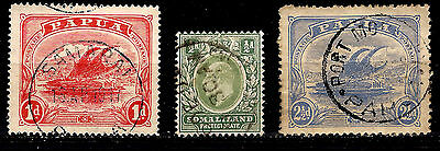 PAPUA & SOMALILAND 1904/1907 Voiliers et EDWARD VII 52MD44