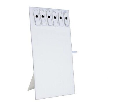 WHITE CHAIN BOARD w/6 SNAPS NECKLACE DISPLAY STAND WHITE LINER FOR JEWELRY TRAY