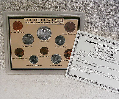 Exotic Wildlife - Genuine Coins of the World Collection with COA