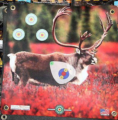 "Archery Target -1500 Plus Shots! Caribou With Scoring Zone! 17""x 17"""