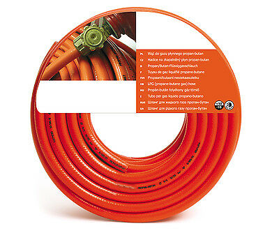 9Mm Orange Ghl Propane Butane Lpg Calor Gas Rubber Hose Pipe Bbq Camping