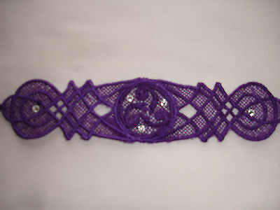 Celtic Lace Bracelet - Royal Purple