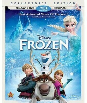 Frozen (Blu-ray/DVD, 2014, 2-Disc Set, Includes Digital Copy) -- Brand New