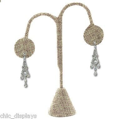 "Modern Burlap Earring Display Stand Earring Tree 4 3/4""h Earring Stand <Quality>"