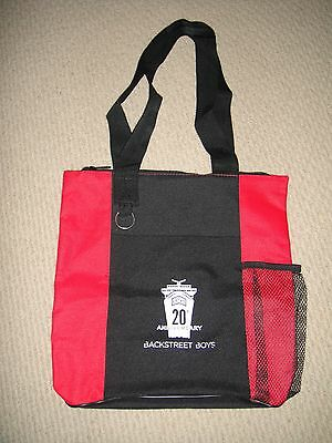 NEW Backstreet Boys BSB 20th Anniversary Cruise 2013 Souviner Red Tote Bag