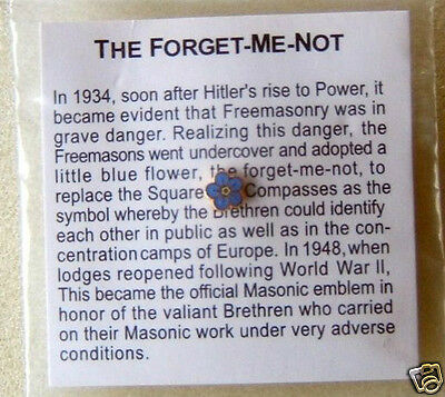 Masonic Forget Me Not Lapel Pin   (NEW)