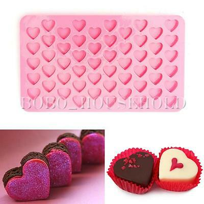 55 Lovely Cake Chocolate Mold Ice Heart Mini Frozen Baking Cube Cookies Soap