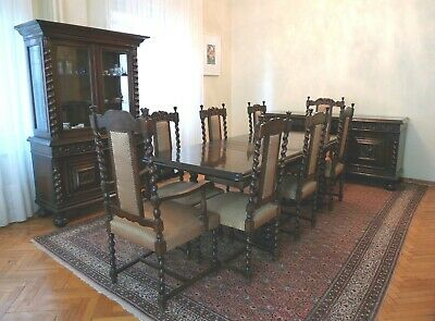 Hand Made Italian Unique Dining Set from Early 1900