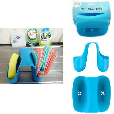 Mini Kitchen Sink Tidy Holder Sponge Brush Bathroom Washing Organizer Drainer