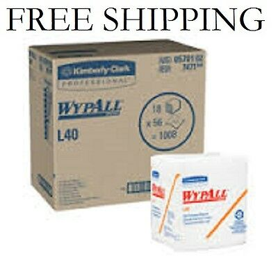 "12 PACK WypAll L40 White Wipers 12.5""x12"" 05701 [56 Wipes per Pack =  672 Total]"