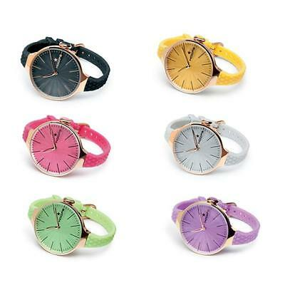 Orologio Donna HOOPS CHERIE L Rosè Silicone Colorato Regular NEW Lady
