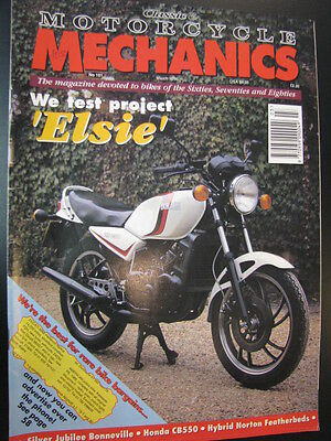 Motorcycle Mechanics #101 March 1996 o.a. Test project Elsie (Yamaha RD250LC)