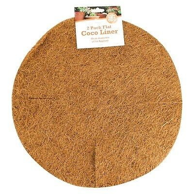 2xHanging Basket Coco Liners Moulded Natural Fibre Plant Garden Roll Replacement