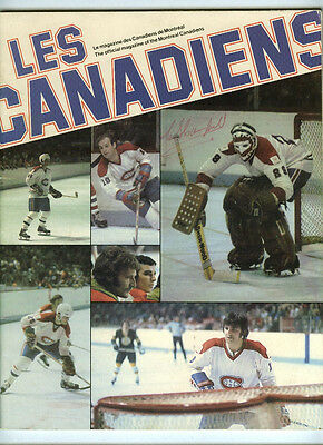 Clarence Campbell Signed 1977-78 Montreal Canadiens Program Rare Autograph/hof
