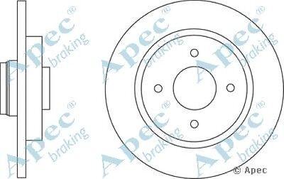 1x OE Quality Replacement Rear Axle Apec Solid Brake Disc 4 Stud 268mm - Single