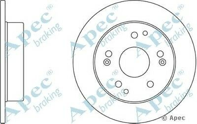 Single 1x OE Quality Replacement Rear Axle Apec Solid Brake Disc 4 Stud 226mm