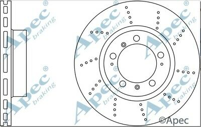 1x OE Quality Replacement Front Axle Apec Vented Brake Disc 5 Stud 298mm Pair