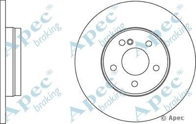 Single 1x OE Quality Replacement Rear Axle Apec Solid Brake Disc 5 Stud 280mm