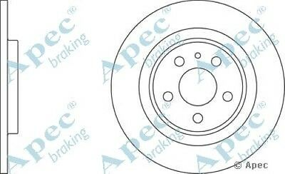 1x OE Quality Replacement Front Axle Apec Solid Brake Disc 4 Stud 257mm Single