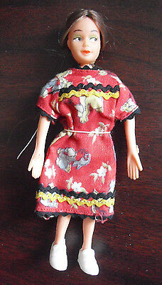 """Vintage 1970s Bendy Rubber Girl Character Doll 5 1/4"""" Tall"""