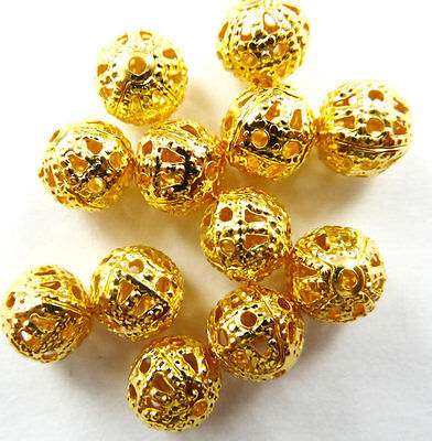 Wholesale Free Ship 600pcs gold plated Spacer Beads 6mm
