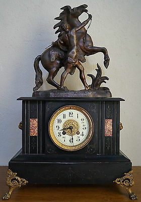 SUPERB 19th Century French Slate Mantel Clock