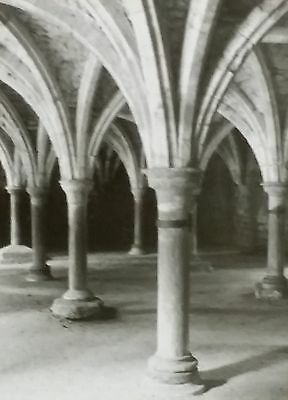 Battle Abbey, Library in Crypt, Sussex, England, 1910, Magic Lantern Glass Slide