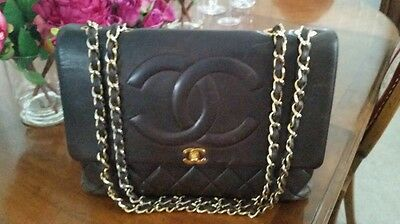 CHANEL Brown Lambskin Jumbo Classic Flap Bag, Extremely RARE!