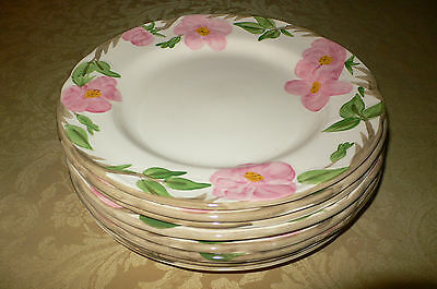 FRANCISCAN DESERT ROSE 8 DINNER PLATES