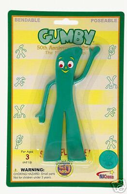 RETRO Anniversary VERSion GUMBY Bendable toy rubber Doll