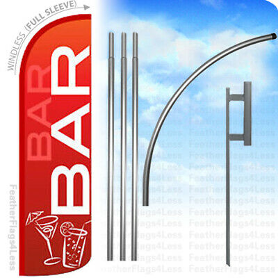 WINDLESS Swooper Feather Banner Sign Flag 15' KIT - BAR rq