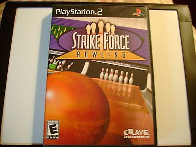 STRIKE FORCE BOWLING PLAYSTATION 2 PS2 VIDEO GAME COMPLETE CIB BLACK LABEL