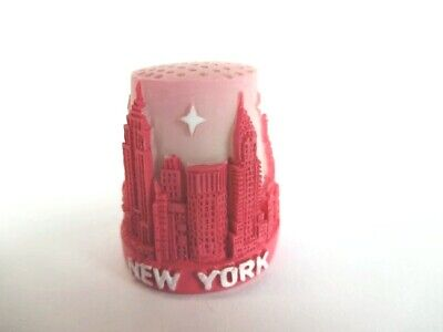 New York Fingerhut Thimble Poly,Empire State Building,Freiheitsstatue,Chrysler