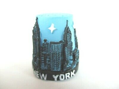 New York Fingerhut Thimble Poly,Empire State Building,Freiheitsstatue,Chrysler .