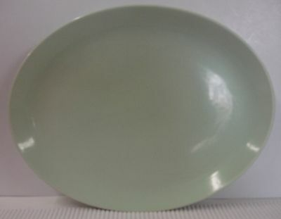 """Iroquois China CASUAL 12-3/4"""" Oval Serving Platter LETTUCE GREEN"""