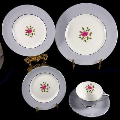 Royal Doulton Chateau Rose 5 Piece Set Dinner, Salad Bread & Butter,  Cup Saucer