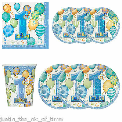 1st First Birthday Party, Baby Boy, Tableware, Partyware, Decorations