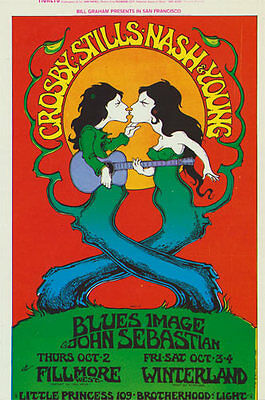BG # 194 Crosby, Stills, Nash Fillmore postcard BG194