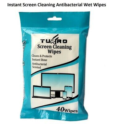 100 x SCREEN CLEANING WIPES LAPTOP MONITOR COMPUTER LCD TV PLASMA CLEANER NEW