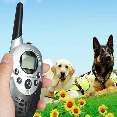 1000 Yard Remote Waterproof Rechargeable 1/2 Dog Electric Training Shock Collar