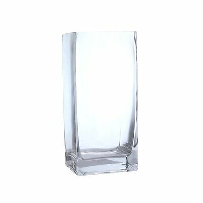 Pasabahce Square Clear Tank Glass Vase - 18cm
