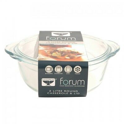 Ravenhead Forum Round Casserole / Baking Dish with Lid - 1L